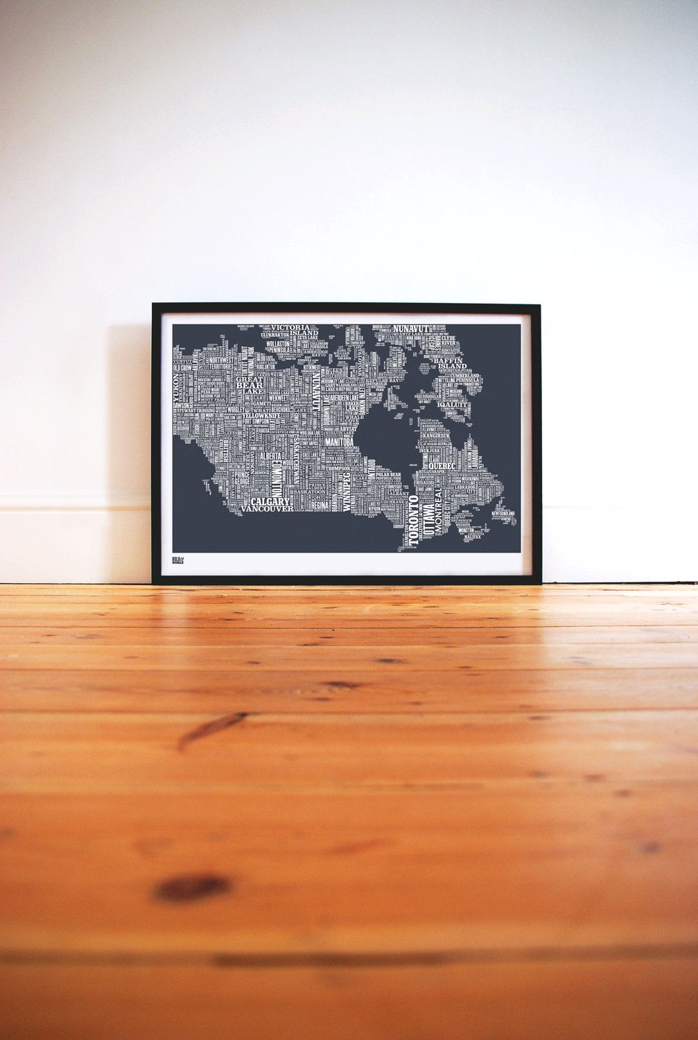 Canada type map in sheer slate decorative screen print 6900 by bold noble canada type map print poppy red bold noble from eggcup blanket uk gumiabroncs Image collections