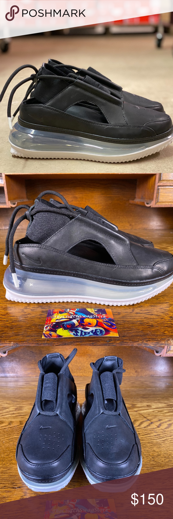Nike Air Max Ff 720 Womens Sandal Shoes Size 7 5 Item Nike Air Max Ff 720 Black Clear Ao3189 001 Size Women S Us Womens Sandals Nike Air Max Shoes Sandals