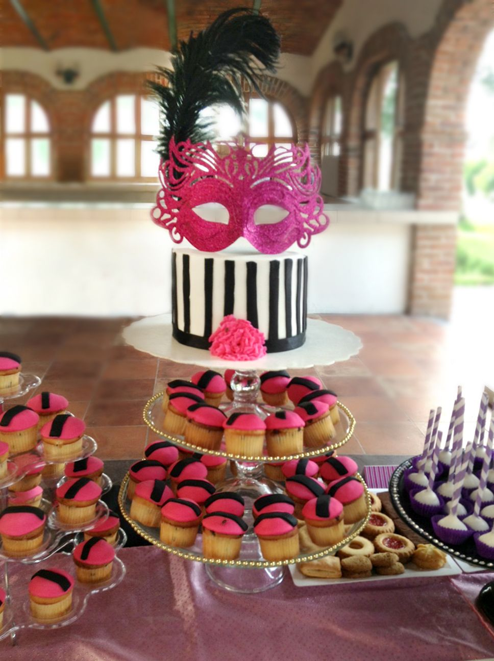 Candy Bar de 15 años. Tema: Máscaras. #candy bar, #sweet 16 ...