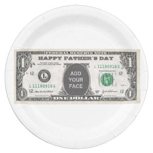 customizable father s day one dollar bill template paper plate