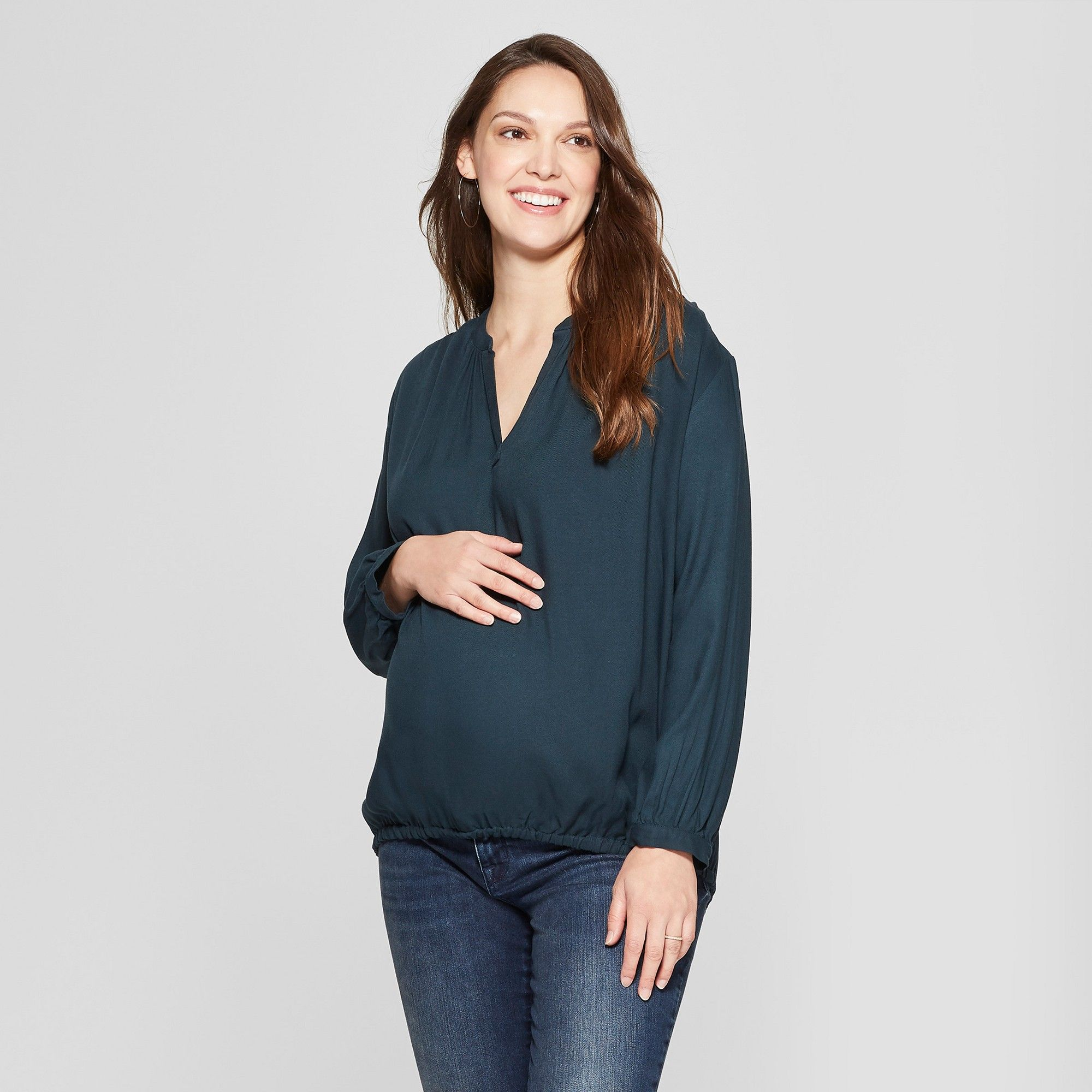 TARGET Isabel Maternity 3//4 Sleeve Snap Shoulder Sweatshirt Easy Nursing New