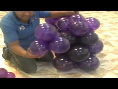 uvas con globos como hacerlas - YouTube