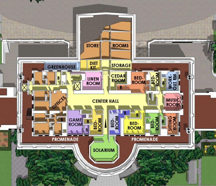 Third Floor White House Museum House Flooring House Floor Plans White House Tour