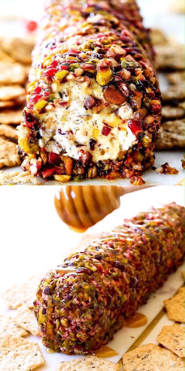 Easy Cranberry Pistachio Cheese Log