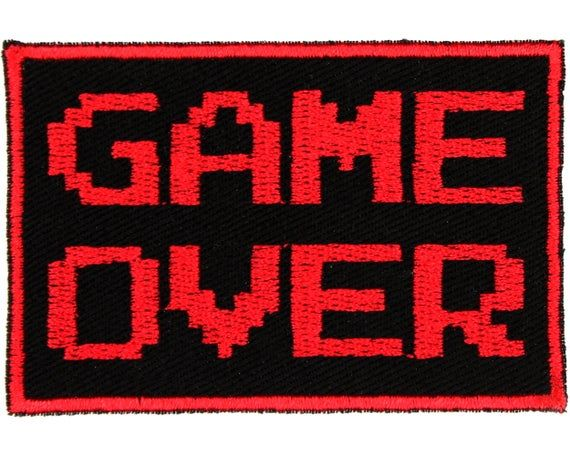 Game Over Patch – 3″ x 2″ Video Game Patches – Gamer Patch – Gifts for Gamers – Patches for Jackets – Patch for Backpack – Patches for Jeans