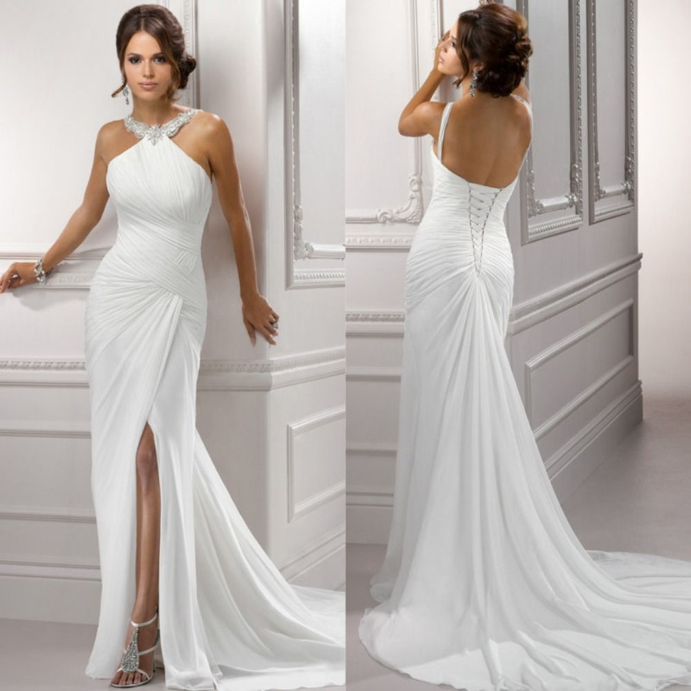 Cheap Beach Simple Wedding Dresses Buy Quality Dress Halter Directly From China