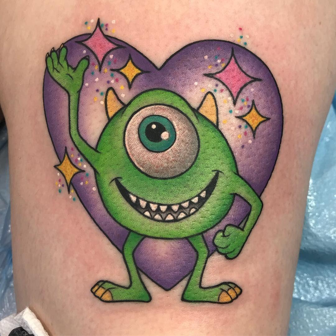 Mike Wazowski Monsters, Inc. Tattoo | Disney Tattoos, Sick