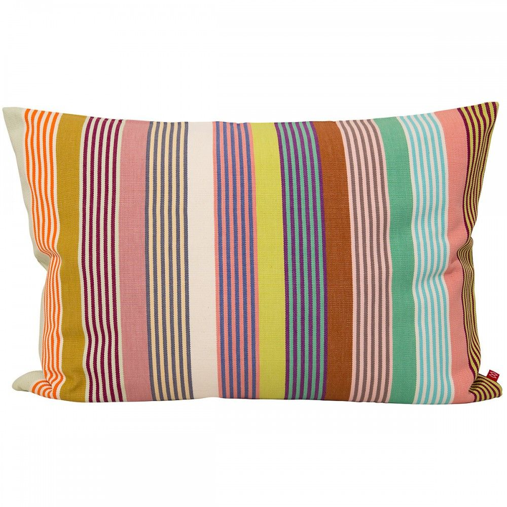 Celia stripe cushion add a punch of colour and banish the bland