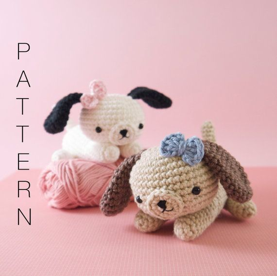 Amigurumi crochet puppy dog PATTERN ONLY (English)