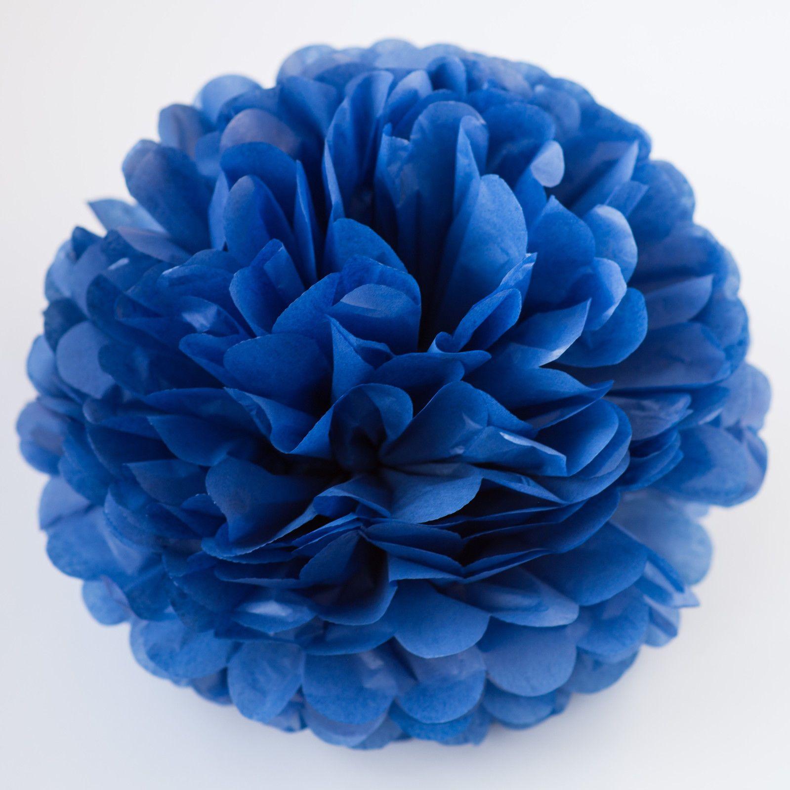 Parade Blue Color Tissue Paper Pompom - Handmade Party Pom Poms -  Decorations  ebay   f9e92cbd93e