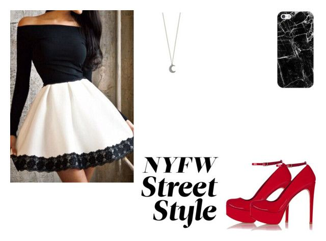 """nyfw"" by julieta-start ❤ liked on Polyvore featuring Casetify, Schutz, women's clothing, women, female, woman, misses and juniors"