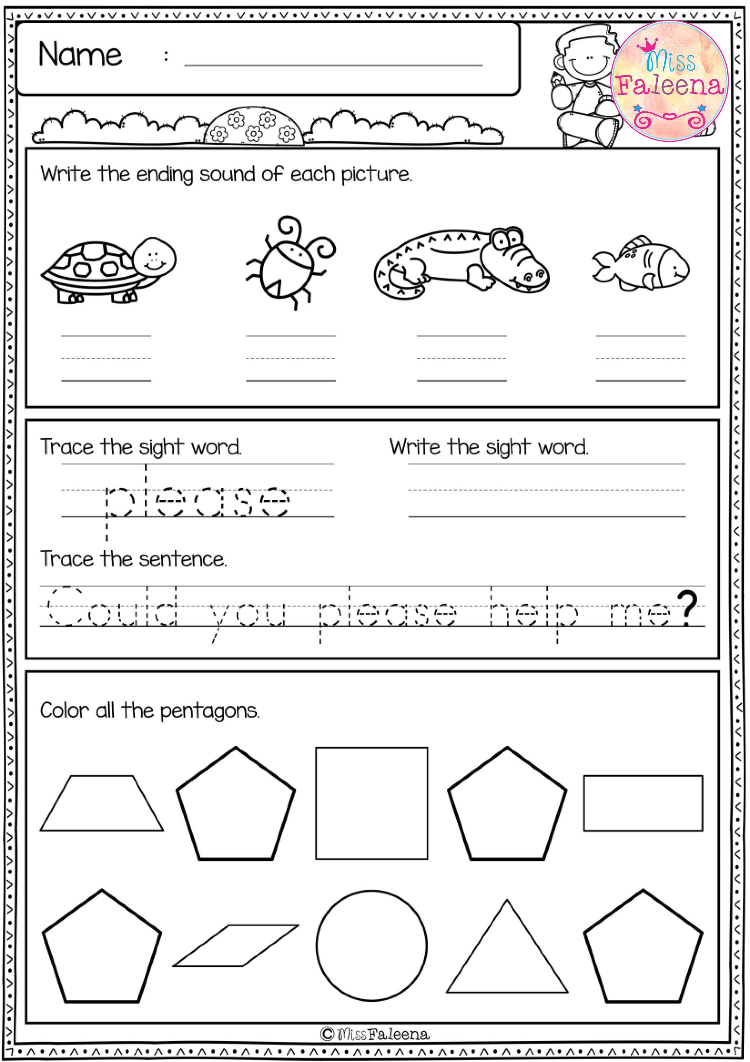 Free First Grade Morning Work Includes 20 Pages Of Morning Work Activities For Literacy And Math These P Homeschool Programs First Grade Kindergarten Freebies [ 3508 x 2478 Pixel ]