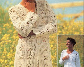 9216dc314 womens crochet cardigan crochet pattern lacy crochet jacket v