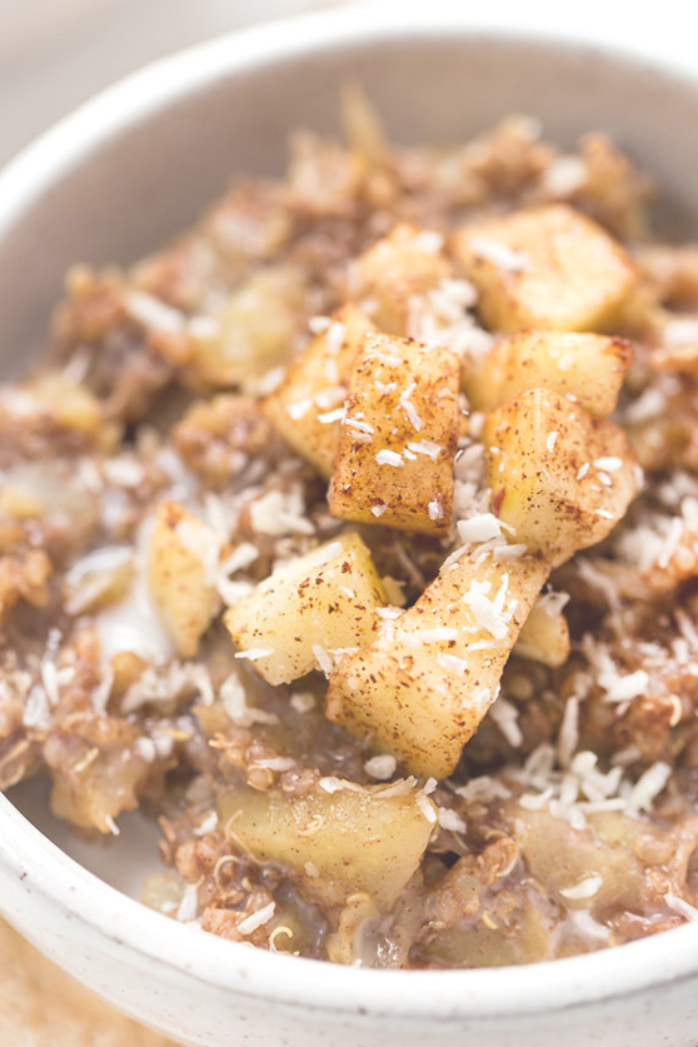 This Cinnamon Apple Breakfast Quinoa is a healthy amp gluten-free option for starting your day! Fiber