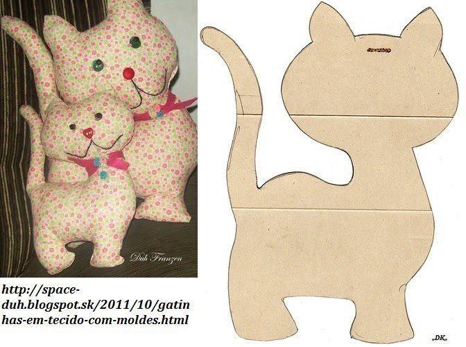Kissen Katze | Nähen Kissen & Kuscheln | Nähen, Tiere nähen und ...