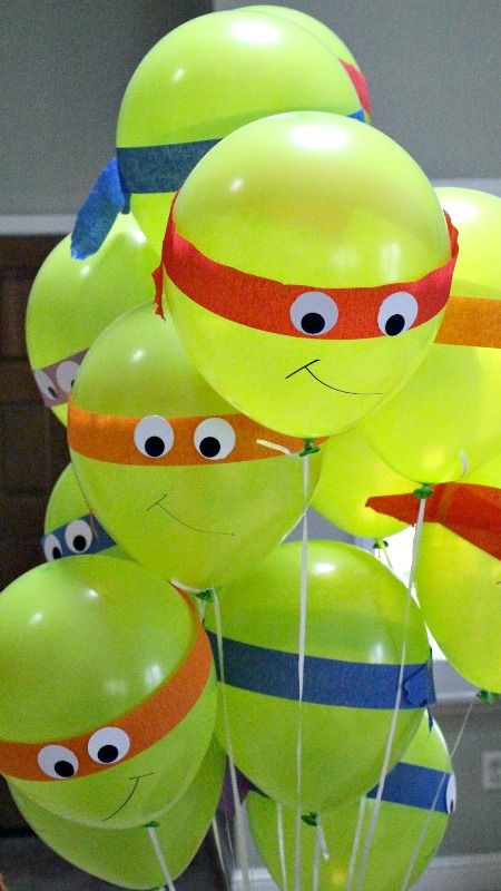 How To Make Teenage Mutant Ninja Turtle Balloons Kids Birthday