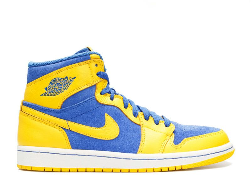dbc302b4402db4 Authentic AIR JORDAN 1 RETRO HIGH OG LANEY varisty maize game royal- white  555088 707 - Click Image to Close