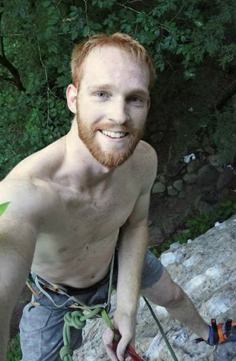Redhead hairy outdoor