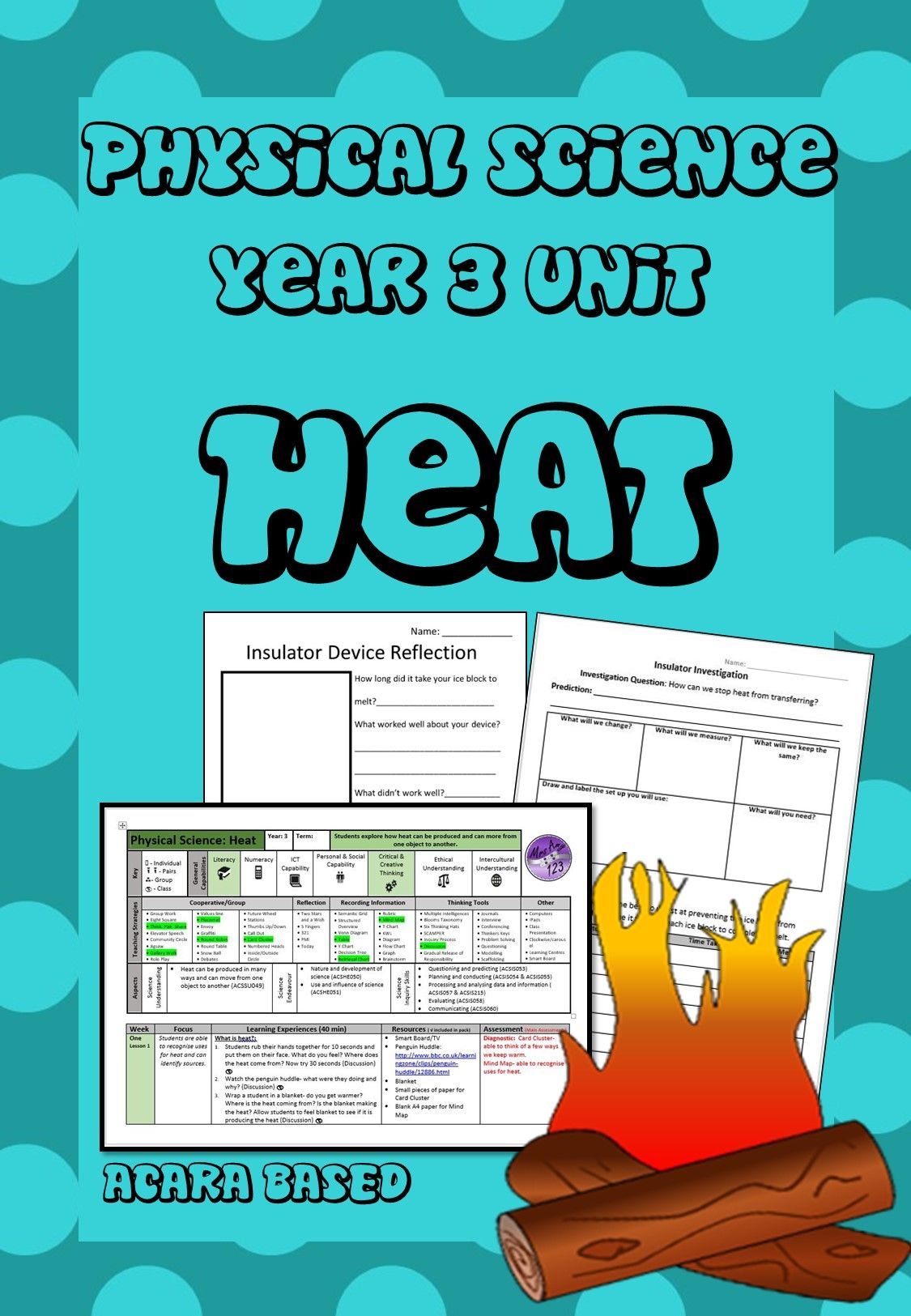 Physical Science Year 3 Unit Heat