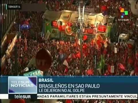 Brasil: las calles se llenan de pueblo para defender la democracia