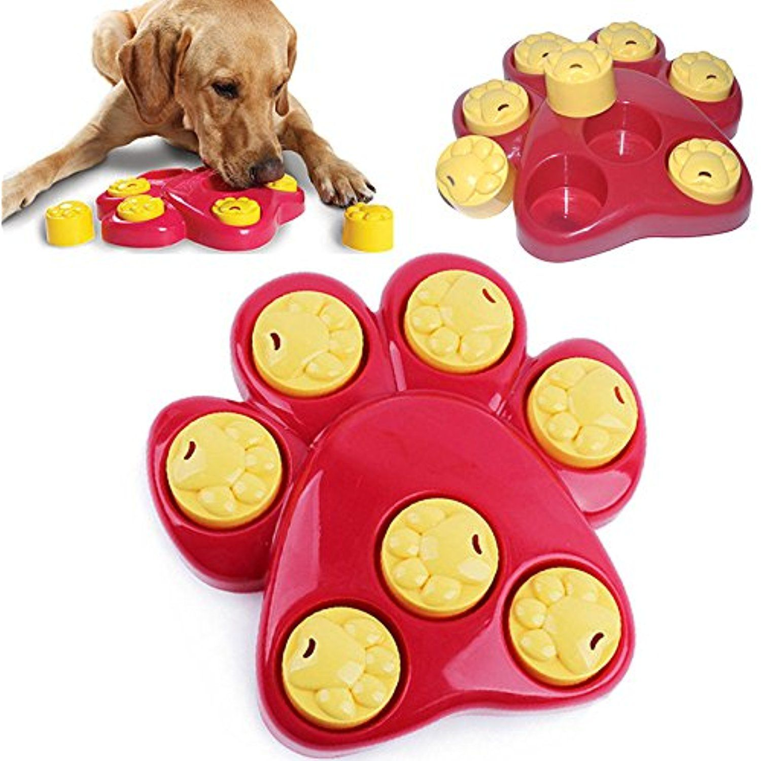 Outward Hound Paw Hide Puzzle Toy Scent Training Treat Pet Dog