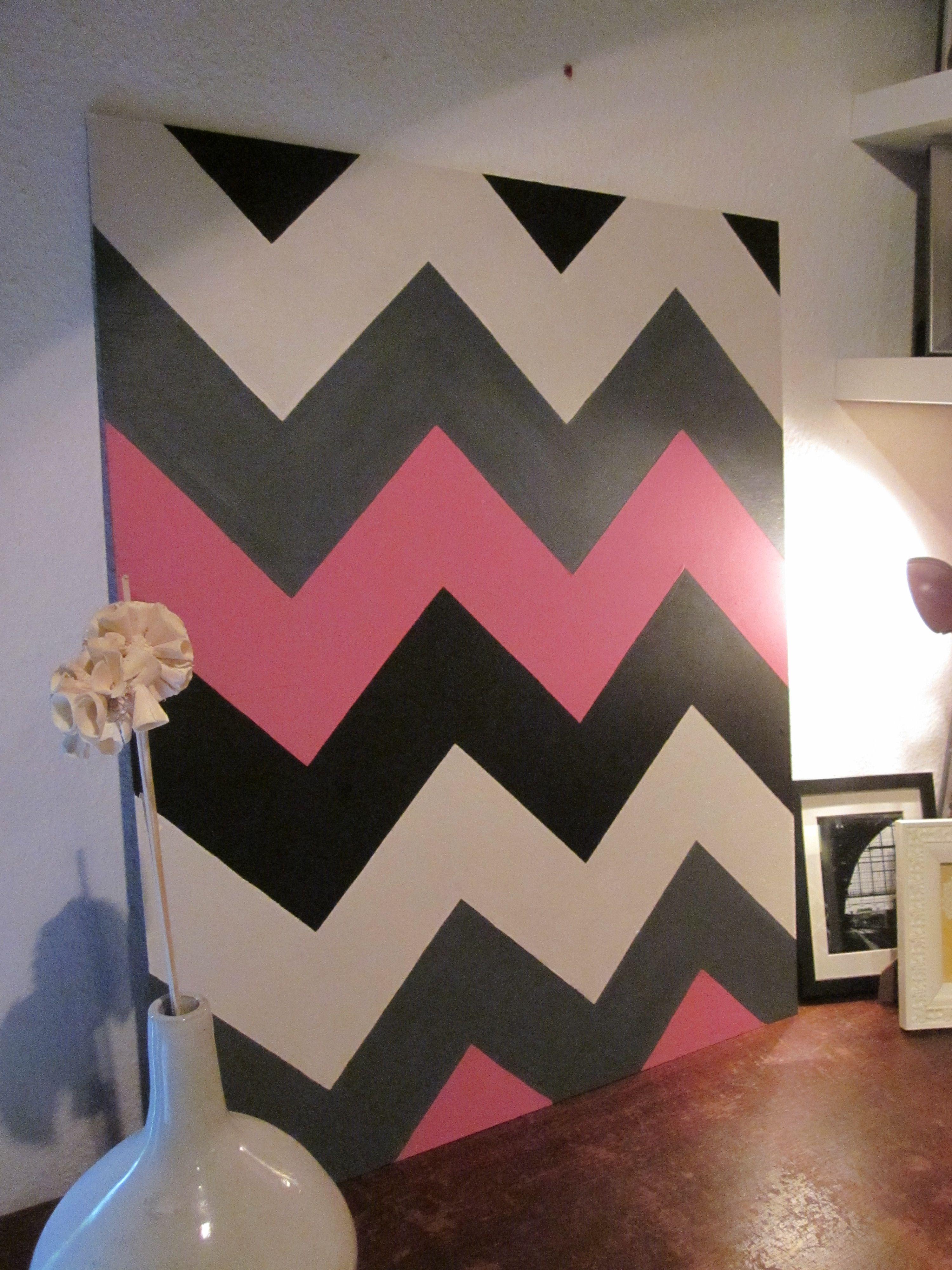 nice Chevron Wall Art Part - 9: DIY chevron wall art