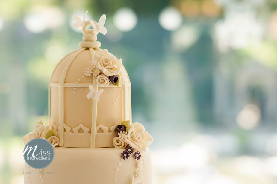 Vintage Cake Toppers Wedding With Birdcage Topper At Italian Villa Poole