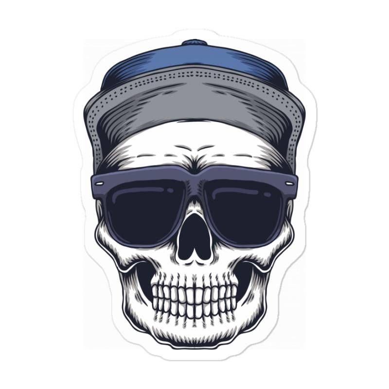 Skull Sticker In 2021 Skull Skull Fashion Vector Illustration