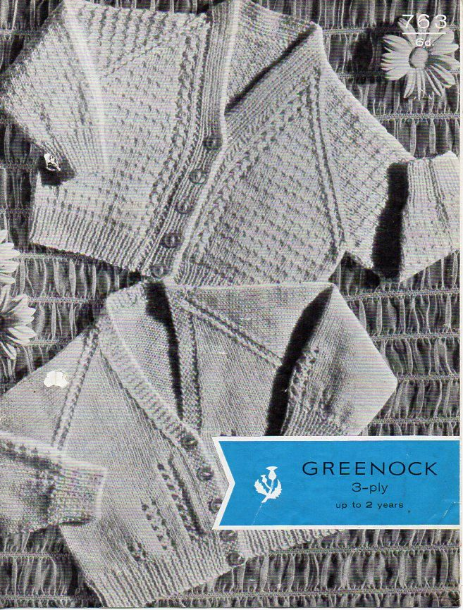 ee2f80e37fc4 vintage baby 3ply cardigans knitting pattern PDF download baby 3 ply ...