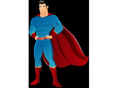 Superman Superhero Clipart Cartoons Png Png