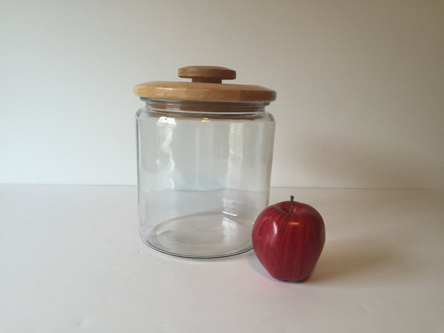 Vintage Gl Cookie Jar Large Food Storage Container With Lid Tea