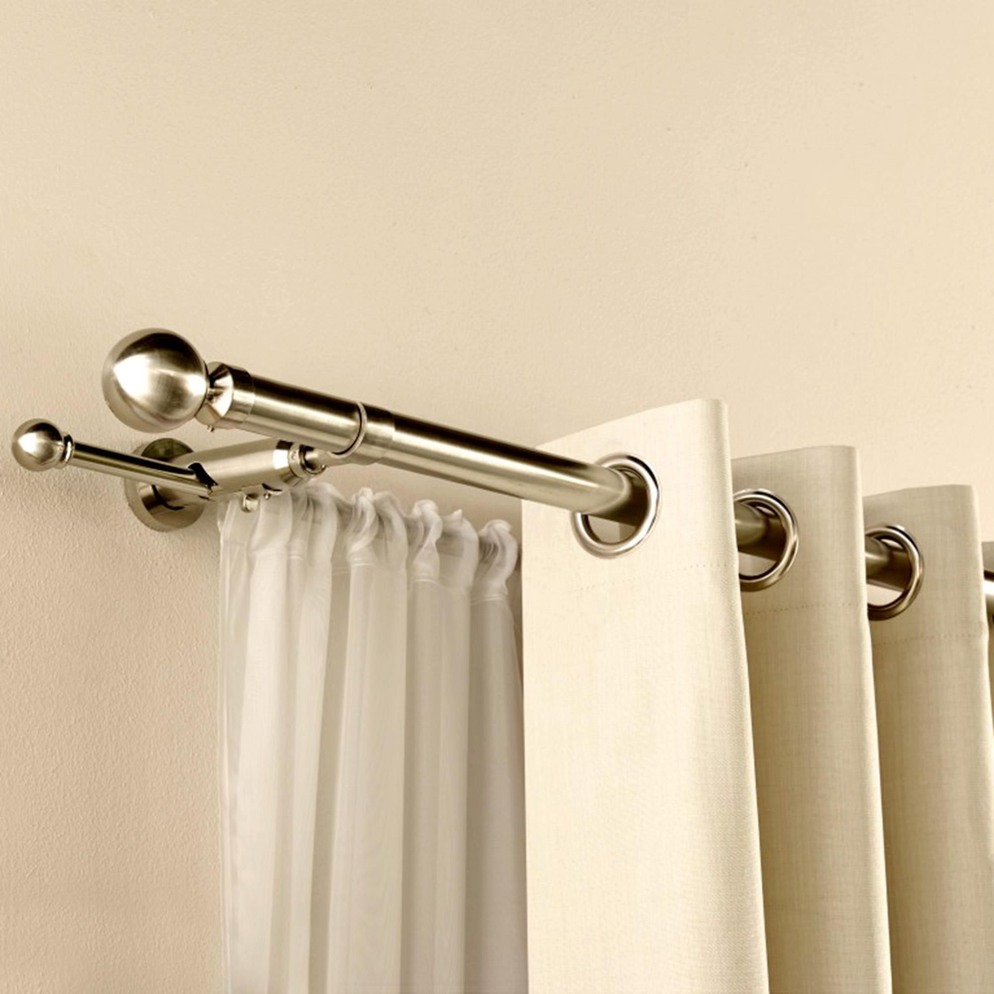 Tips On Selecting Striking Curtain Poles Double Rod Curtains