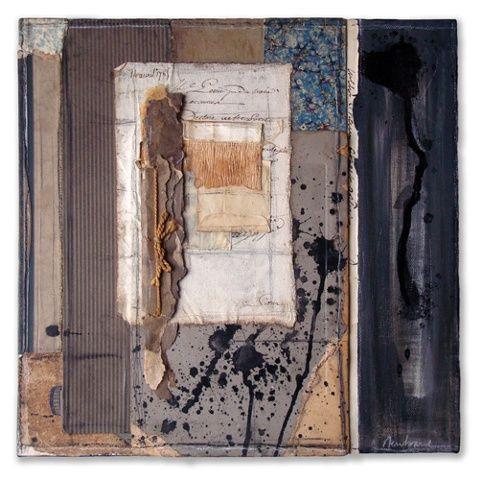 "Crystal Neubauer Original Collage Mixed Media  Fine Art 12"" x 12"""