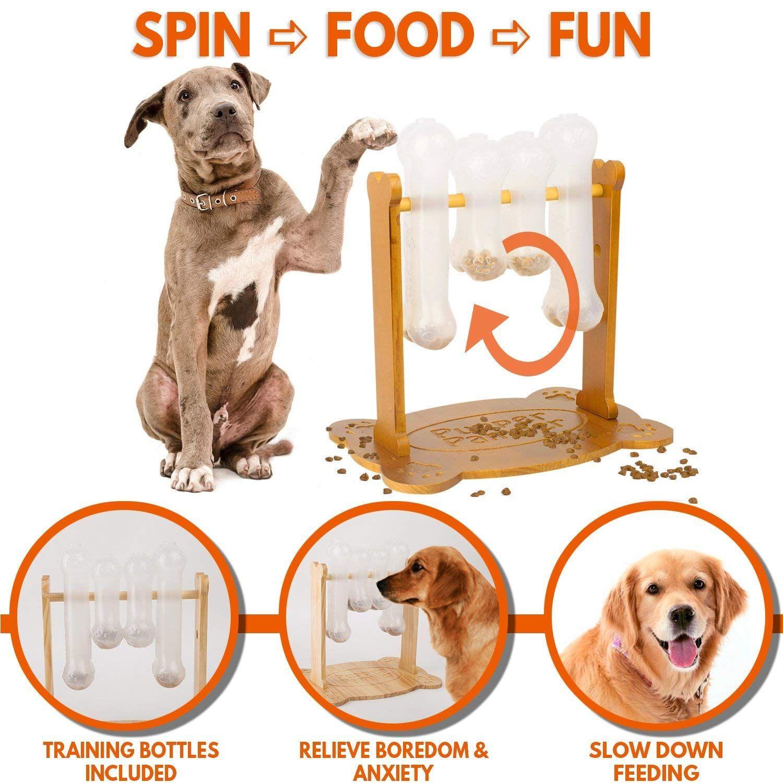Amazon Com Interactive Dog Food Puzzle Toy Treat Dispensing
