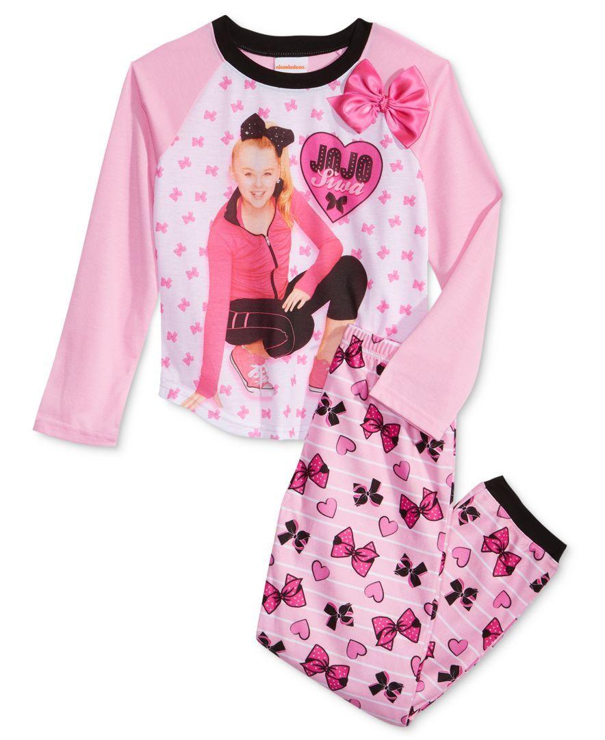 d8d23da13 Nickelodeon 2-Pc. Jojo Siwa Pajama Set