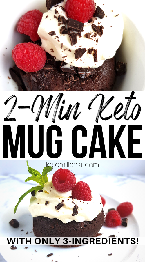 3 Ingredient Keto Mug Cake That Actually Tastes Good #mugcake