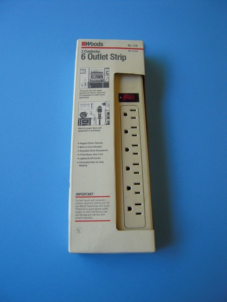Utilitech 6-Outlet Power Strip Built-in Circuit Breaker