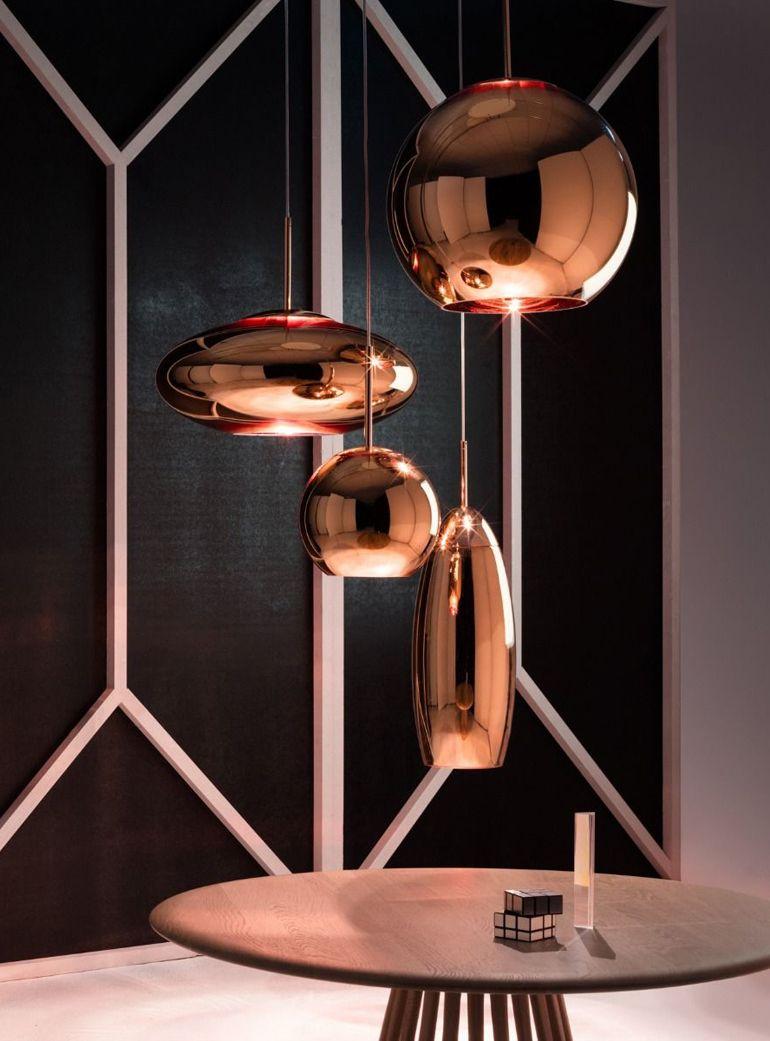 Copper Round 45cm Pendant Light In 2020 Copper Lamps Ceiling Rose Tom Dixon