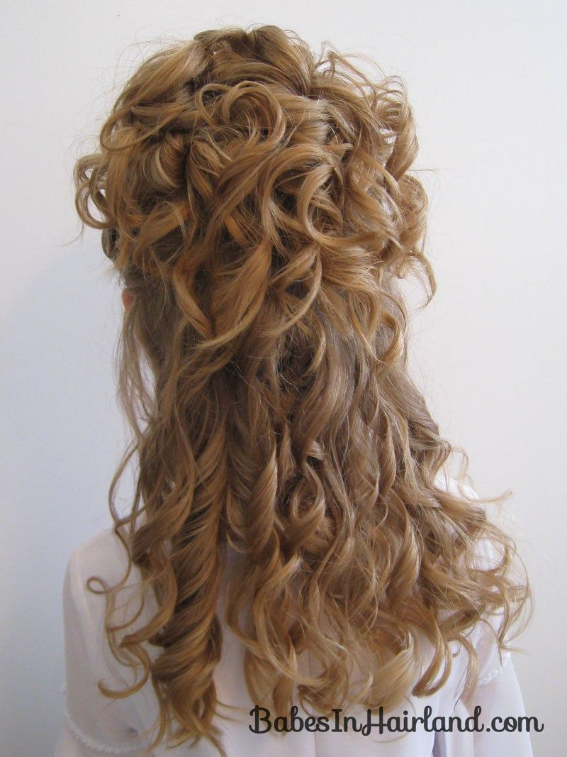 Fashion week Curly Naturally hair half updos for lady