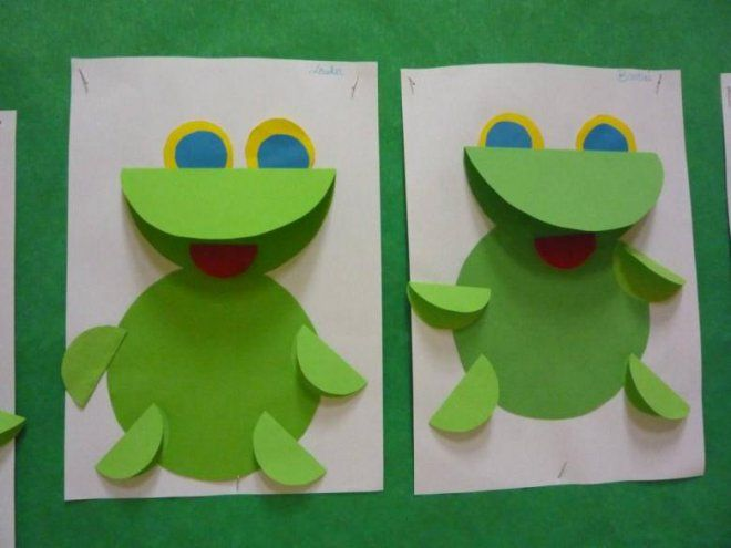 Photo of Craft ideas for children. Frog – made from paper and cardboard / Arts and Crafts Activities for Kids. Ideas