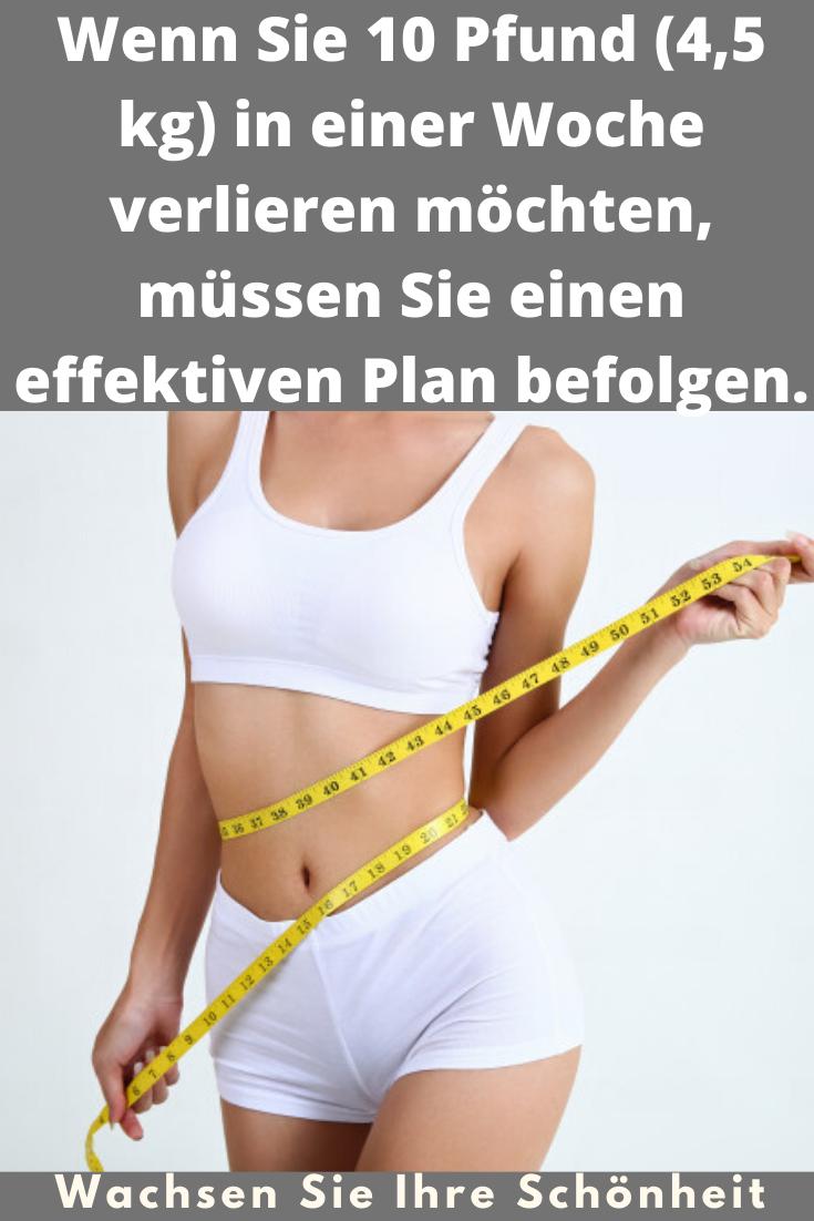 Wöchentliches Menü, um 3 Kilo in einer Woche zu verlieren
