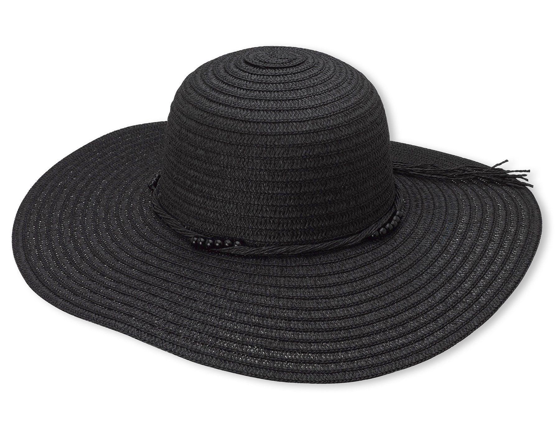 365825809183af Debra Weitzner Women's Floppy Straw Beach Sun Hat Strings Trim ...