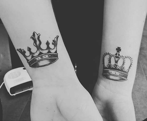 51 king and queen tattoos for couples tatuajes. Black Bedroom Furniture Sets. Home Design Ideas
