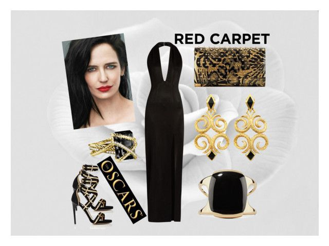 """red carpet at the oscars vol3"" by sia-gl on Polyvore featuring Galvan, Paul Andrew, Christian Louboutin, David Yurman and Lisa Eisner"