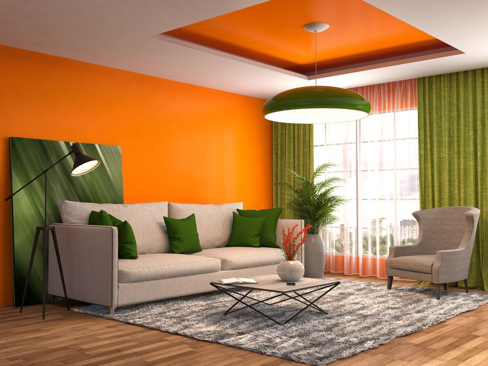 40 Orange Living Room Ideas Photos Green Living Room Decor
