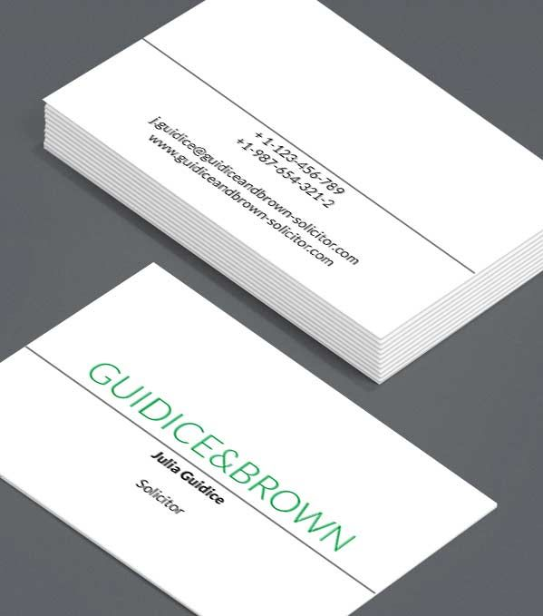 clear cut these business cards are simple direct and unflappable