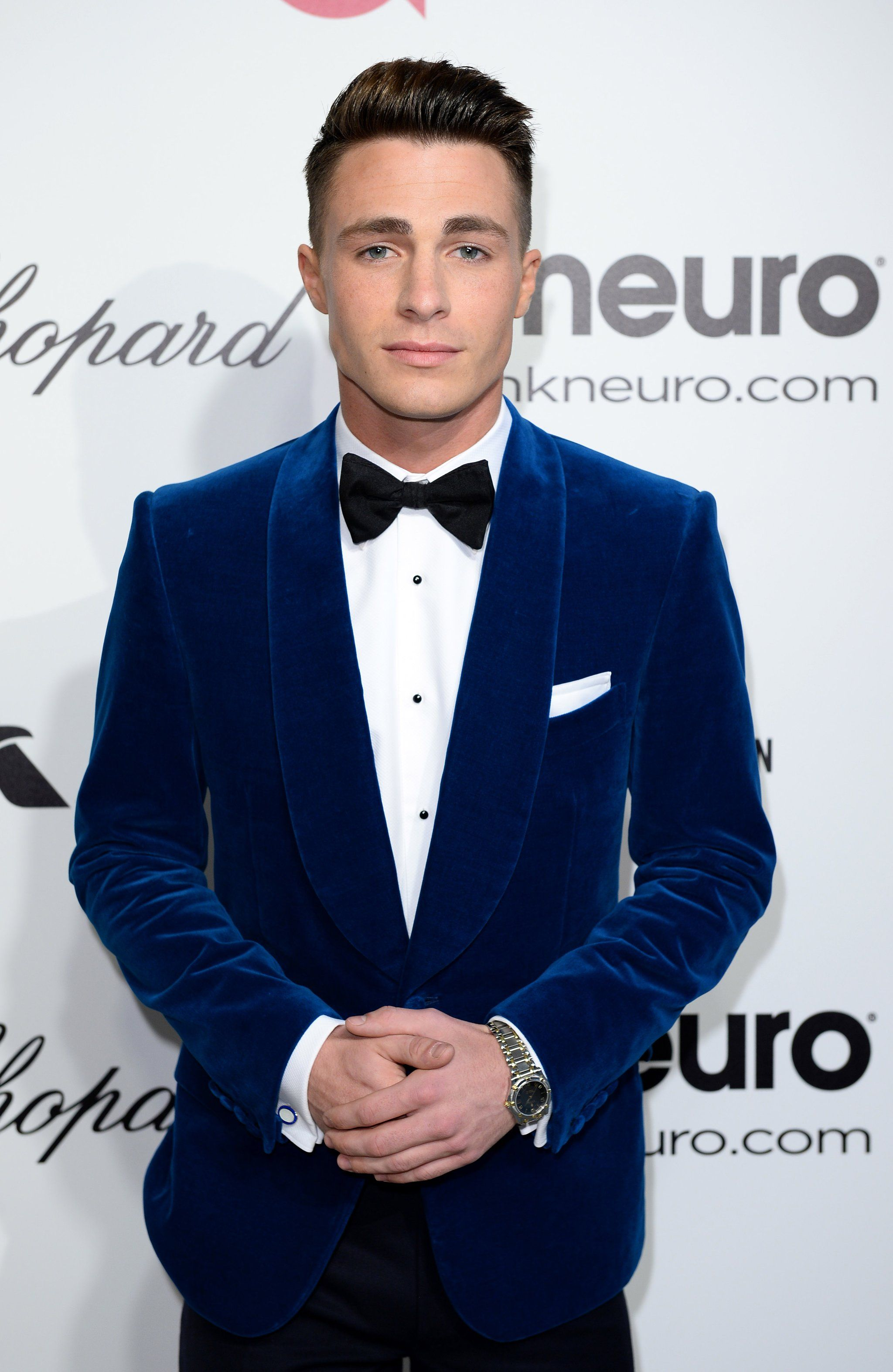 This On-Point Suit and Bow Tie Combo   Colton haynes and Men wear