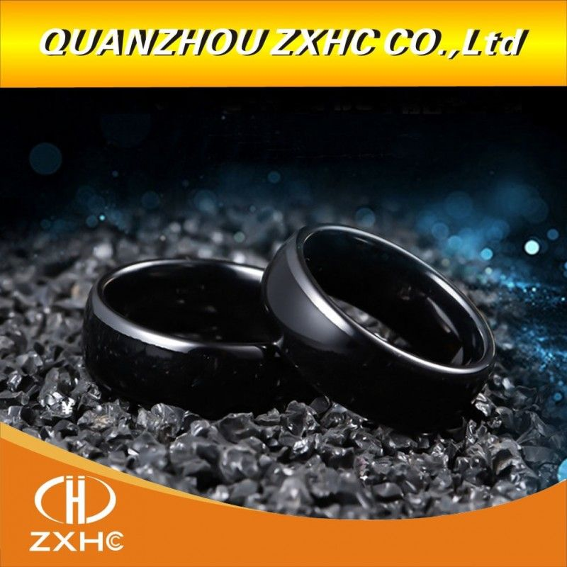 125khz 13 56mhz Rfid Black Ceramics Smart Finger Ring Wear For Men Or Women Rings Rfid Rings For Men