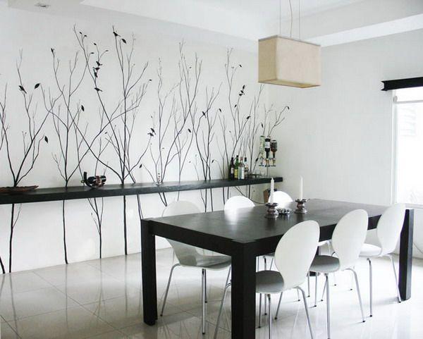 Modern Wall Mural Arts Decorating Ideas Best Wall Murals Dining Room Wall Decor Dining Room Wall Art Modern Dining Room