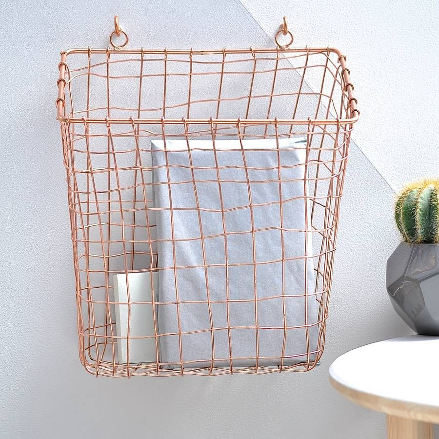Lovely Effigy Of Wall Mount Wire Basket Cool Design